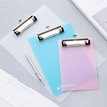 A4 Размер папка для файлов пластиковая ПП прозрачная письменная пластина жесткая доска белый розовый синий подложка пластина канцелярские принадлежности