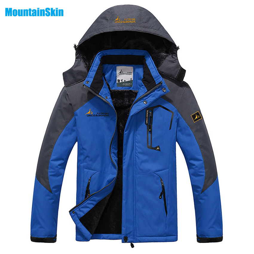 Mountainskin Hommes Hiver Polaire Étanche Vestes de Sports de Plein Air Chaud Manteaux Randonnée Camping Trekking Ski Mâle Vestes MA056