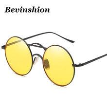 84b3b7d767 New Arrival 2018 Elegant Round Sunglasses Women Vintage Glasses Men Thin  Frame Metal Korean Fashion Sexy Red Pink Yellow Glasses