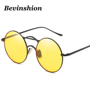 72b6f6659f Bevinshion 2018 Round Sunglasses Women Vintage Men Glasses