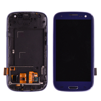 For Samsung Galaxy S3 i9300 LCD Display Touch Screen Digitizer Assembly with Frame Can adjust the brightness free shipping