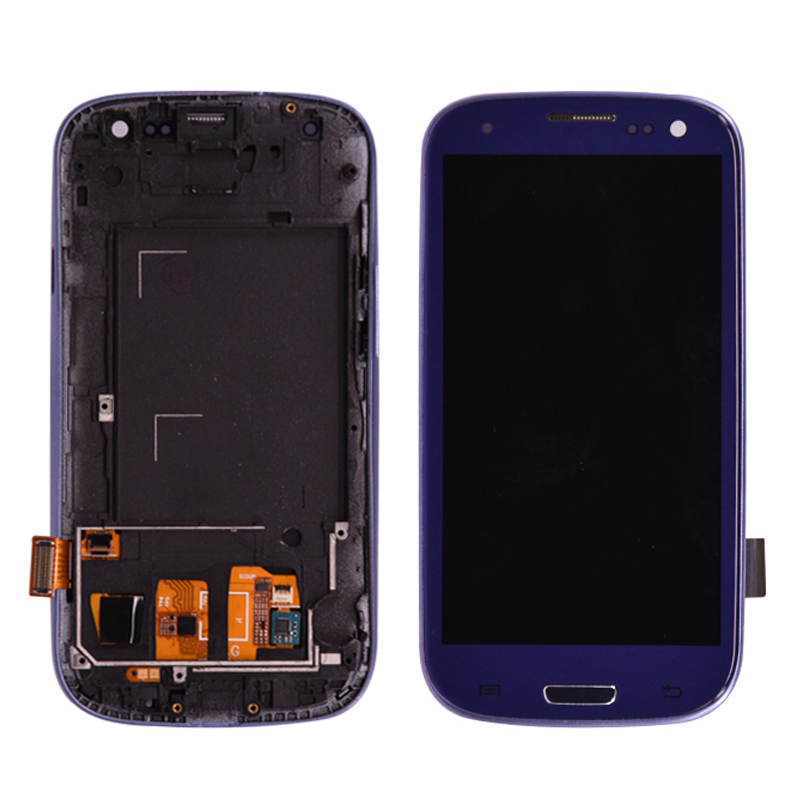 For <font><b>Samsung</b></font> <font><b>Galaxy</b></font> <font><b>S3</b></font> i9300 <font><b>LCD</b></font> Display Touch <font><b>Screen</b></font> Digitizer Assembly with Frame Can adjust the brightness free shipping image