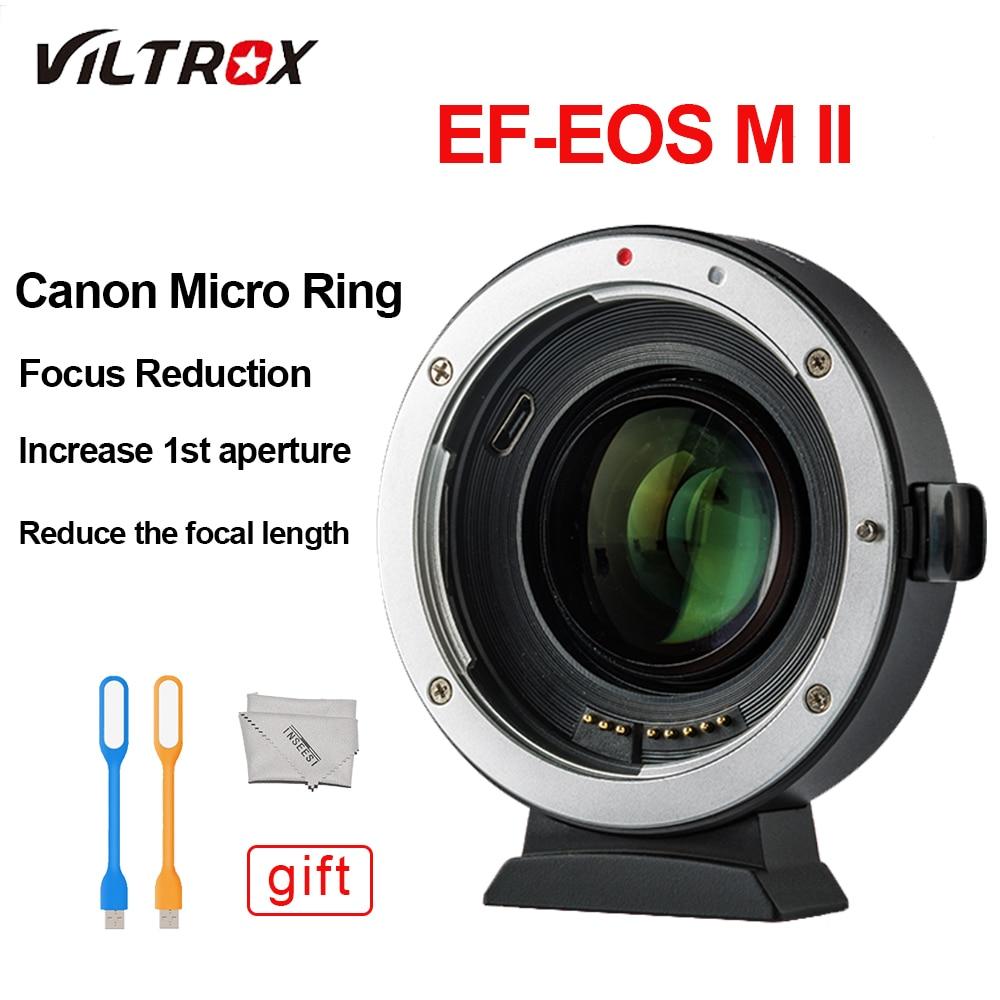 Lens Adapter Turbo Viltrox EF-M2 II 0.71X Réduire la Vitesse Booster AF Auto-focus EXIF pour Canon EF objectif à m6 M5 M3 M2 M10 Caméra