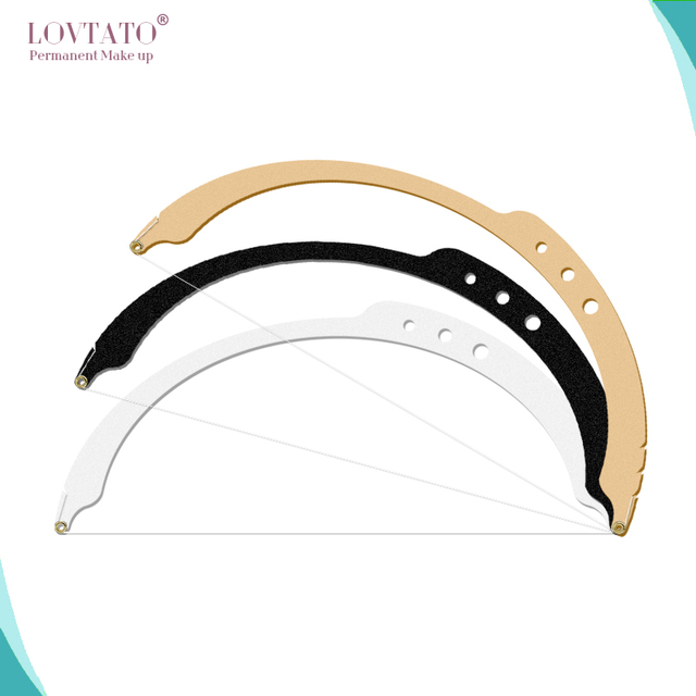 Microblading Bow arrow line ruler semi-permanent Eyebrow positioning measuring tools stencil tattoo accessories line Mark rulers