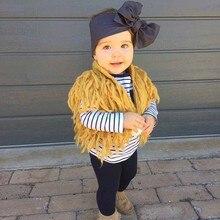 Infantile Fille Gland Chandail Cardigan Enfants Bébé Fille Tricoté Jumper Porter Suéter Infantil Enfant Manteau Survêtement Pour Le Printemps Automne