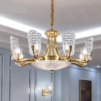 modern chandeliers led lamp American Living Room Lights Luxury High grade Atmospheric Brass Chandelier Lighting