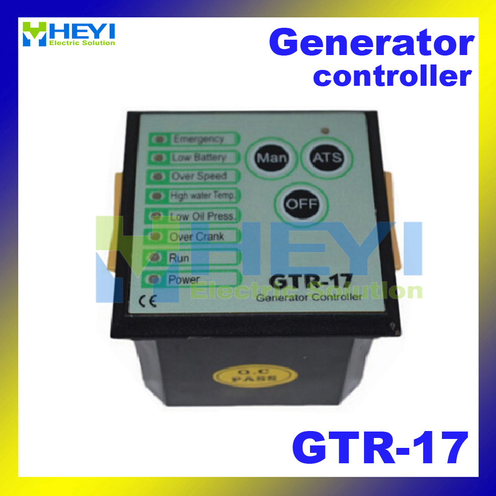 new type generator controller with Auto Start/Stop functions GTR-17 generator control module fast shipping 6 pins 5kw ats three phase 220v 380v gasoline generator controller automatic starting auto start stop function