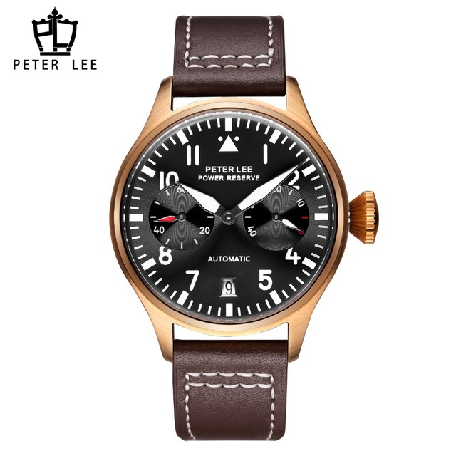PETER LEE Automatic Mechanical Mens Watches Brand Luxury Casual Sport Clock High Quality Fashion Leather Watch Male Clocks Gift