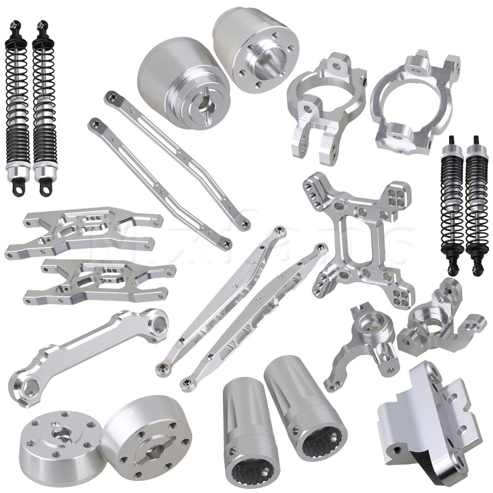 Mxfans 23 pieces  Alloy Upgrade Set Spare Parts for RC 1:10 AXIAL Rock Crawler mxfans alloy front rear servo link gold upgrade for hsp rc1 10 truck 106017 set of 2