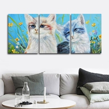 Lovely Cats Animals Wall Picture Posters and Print Canvas Painting Calligraphy Decor for Living Room Home Frameless