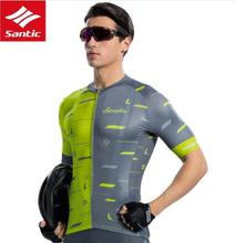 Santic Men Cycling Short Sleeve Jersey Race Fit Bike Jersey Shirt Cycling Summer Jerseys Cycling Team Shirt Asia S-2XL M8C02133 цена