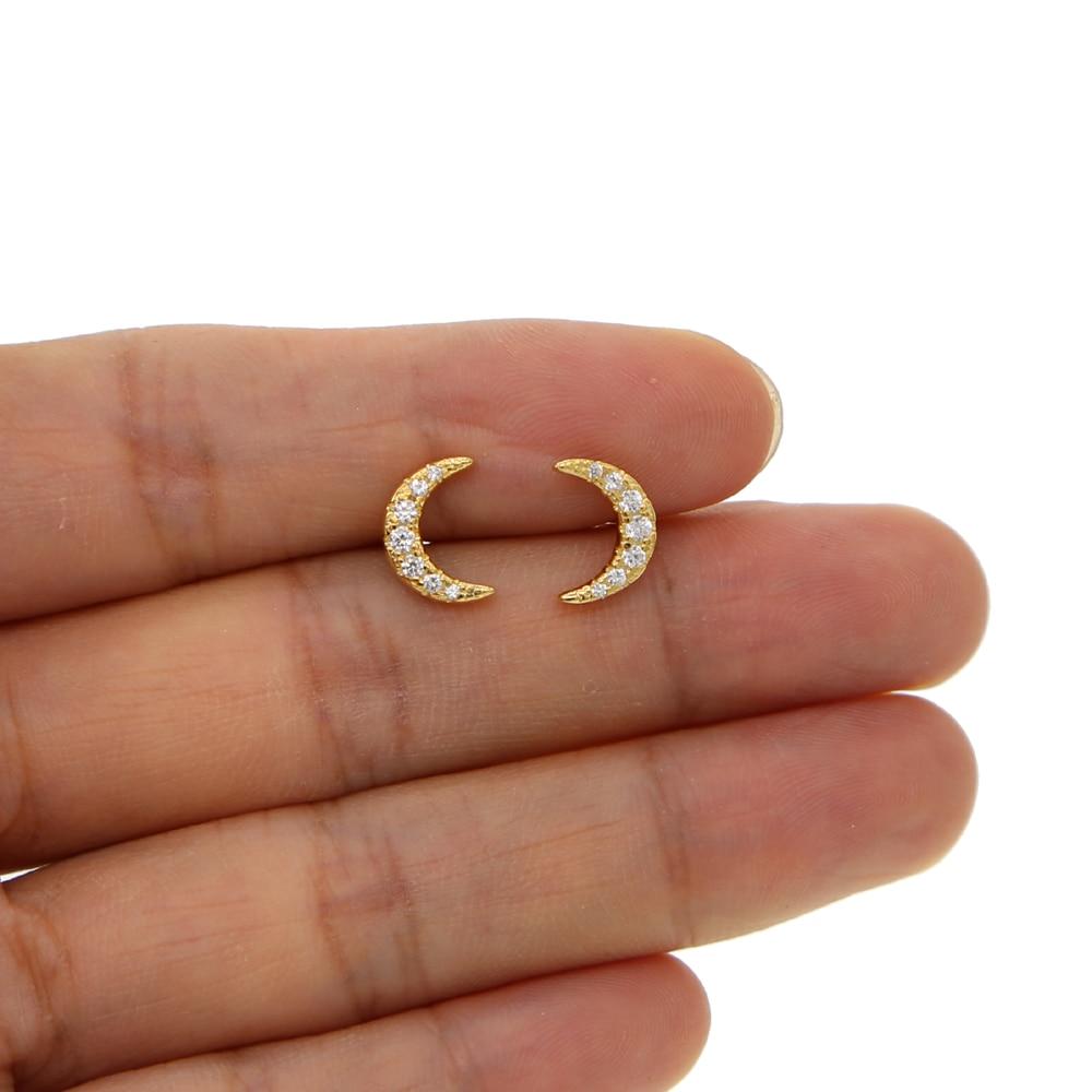 Silver stud earring H (1)