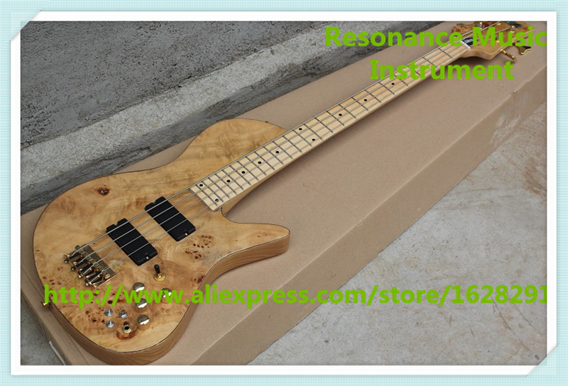 Hot Selling Chinese 4 String Fodera Electric Bass Guitars Maple Fingerboard Free Shipping new arrival chinese left handed 6 string electric bass guitars with metallic blue finish for sale