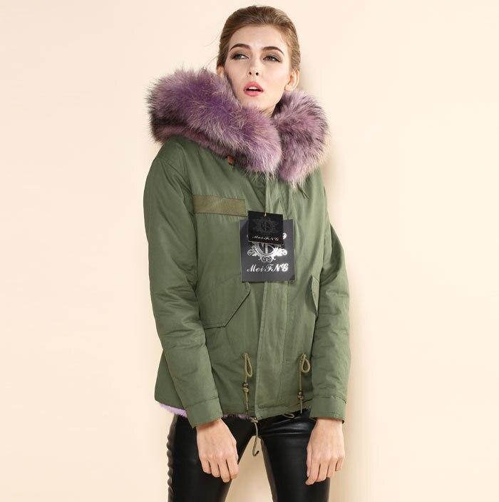 Теплое зимнее пальто женские куртки верхняя одежда из искусственного Меховая подкладка Для женщин Мех животных Куртки парка