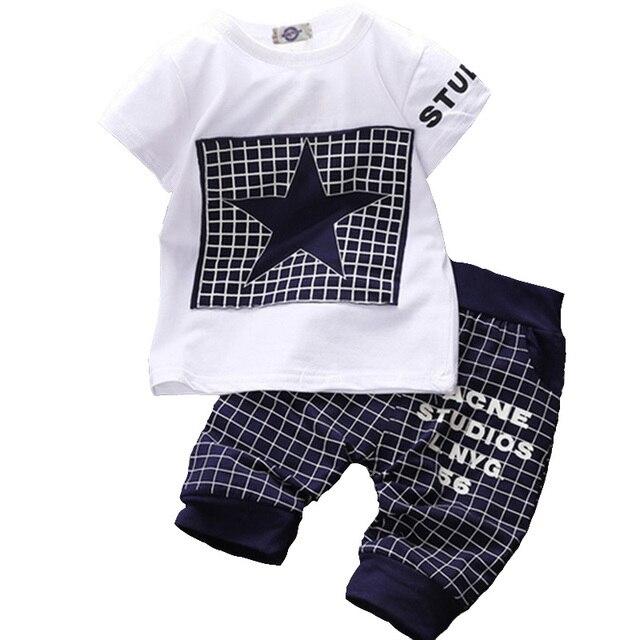 3347a88afcb3 Baby boy clothes summer kids clothes sets cotton t shirt+pants suit ...
