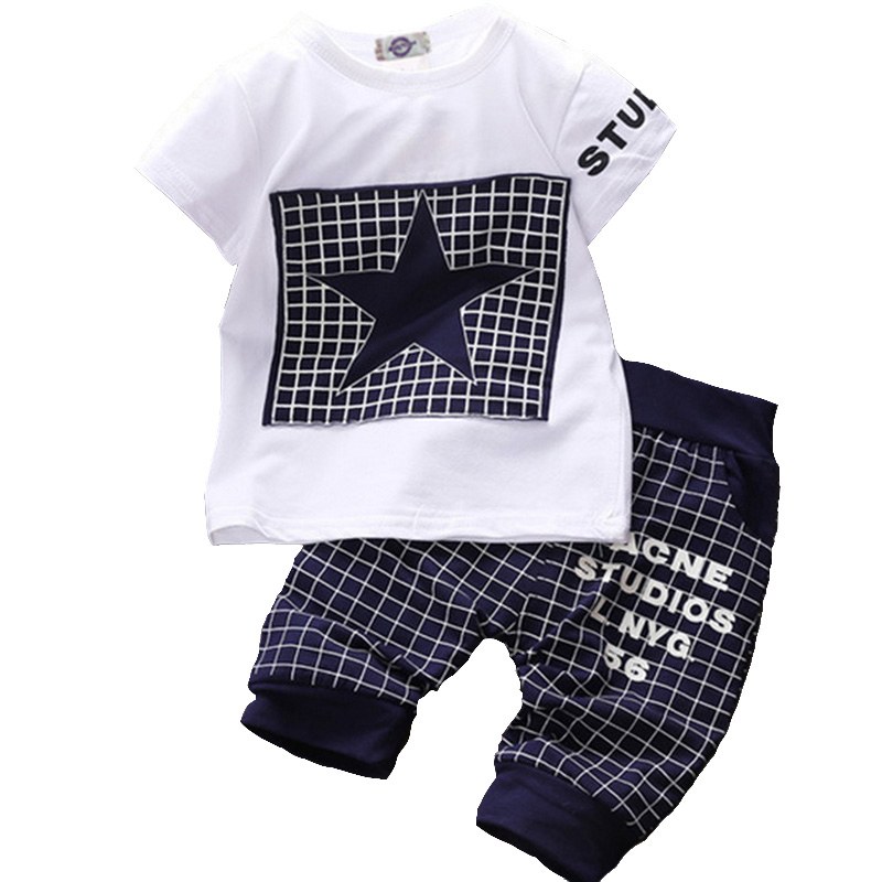 Fashion Newborn Baby Sets Summer Infant Clothing Set Cotton Baby Girls Clothes Set Short Sleeve Tops+Short Pants Newborn Clothes