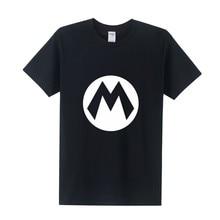 Super Mario T Shirt  Summer New Cartoon  Men T-shirts Fashion Short Sleeve Cotton O-neck Game Men Clothing Tops Tee OT-286