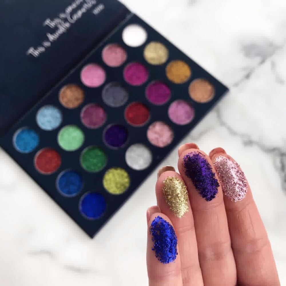 Aurelife 24 Farbe Make-Up Glitter & 12 farbe matte schimmer Lidschatten, 4 farbe glow Illuminator kit Highlighter & Bronzer Palette