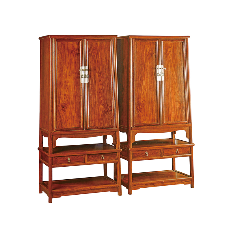 Chine Antique en bois rond coin armoire en bois massif salon armoire hérisson palissandre maison meubles GD074 100*175*48 cm