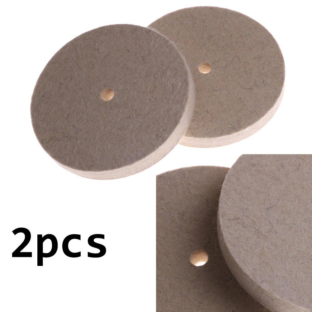 100mm 4 Zoll Wolle Polieren Schleifscheibe Filz Polieren Discs Pads Set neu.
