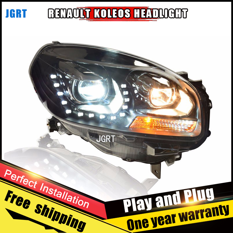 Car Style LED headlights for Renault Koleos 2011-2014 for Koleos head lamp LED DRL Lens Double Beam H7 HID Xenon bi xenon lens car styling led head lamp for opel mokka headlights 2013 2014 mokka led headlight led drl h7 hid bi xenon lens low beam