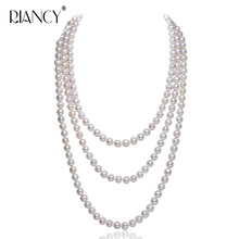 Fashion Freshwater pearl necklaces for women wedding white long natural pearl necklace jewelry big best birthday gift [zhixi] maxi natural pearl necklace fine jewelry white natural freshwater pearl chokers necklaces women gift for new year r13