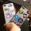 Venda quente dos desenhos animados anel fique casos transparente capa cordão para iphone 6 6 s 6 mais 6 s plus para iphone 7 7 plus casos 4.7 & 5.5 polegada
