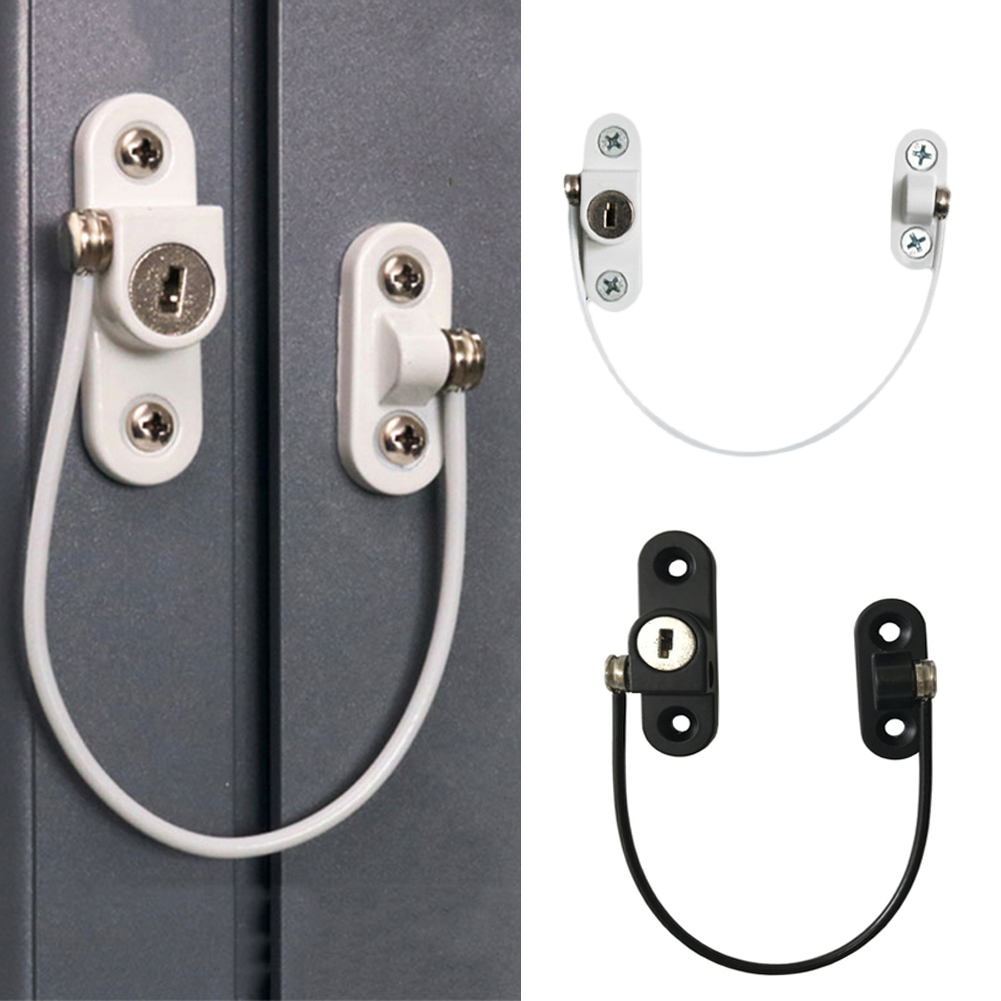 Baby Safety Lock Stainless Child Window Restrictor Security Cable Lock Catch Wire Opening Restrictor Kids Safety Production