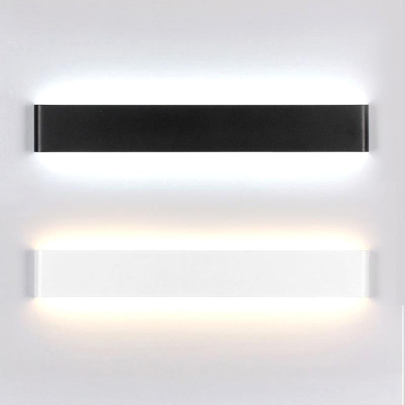 Moderne Minimaliste LED Mur Lampes En Aluminium Chambre Lampe De Chevet Creative Salle De Bains led Lumières 6 W/14 W led intérieur Éclairage mural