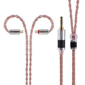Image 2 - Alliage à 8 noyaux hifi980 avec câble en cuivre pur câble équilibré 2.5/3.5/4.4mm avec connecteur MMCX/2pin pour LZ A6 AS10 ZS10 ZS6 AS10