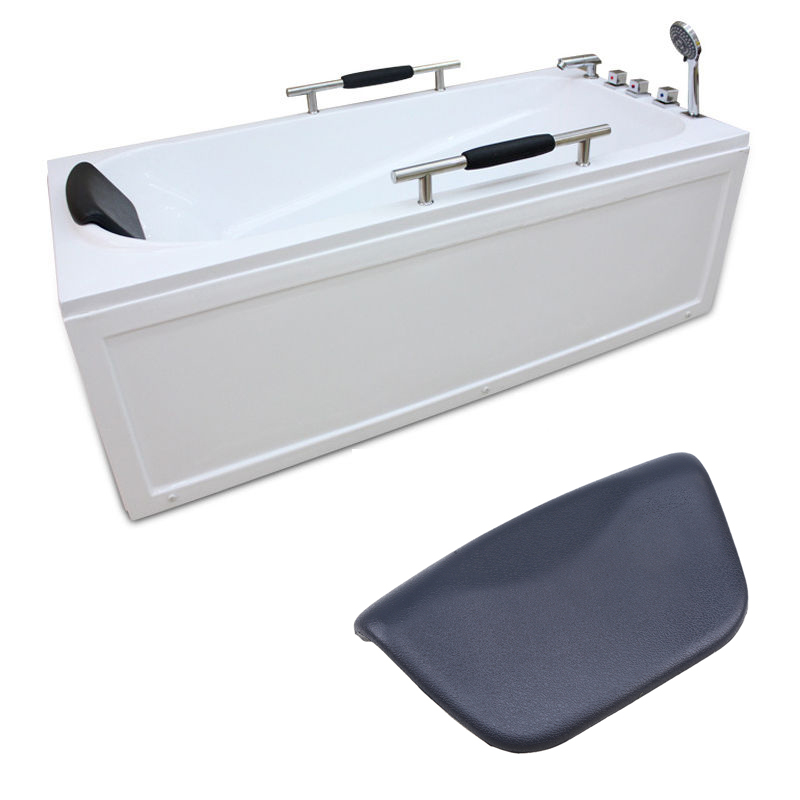 WCIC PU Bath Pillow SPA Bathroom Accessories Foam Bath Bathtub Headrest Suction Cup Neck Pillows Waterproof Bath Tub Pillow
