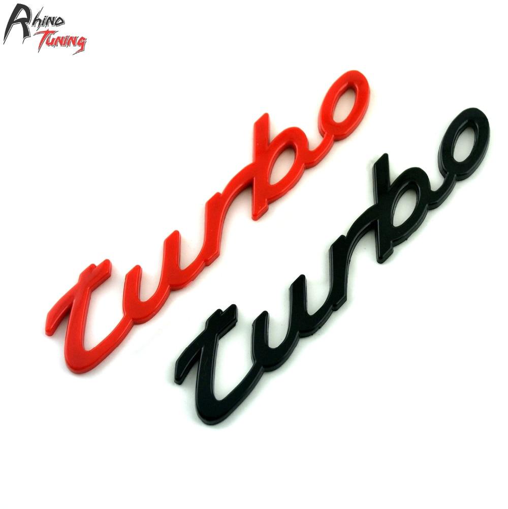 Rhino Tuning Turbo ABS Emblem Car Badge Auto Styling Sticker For Cabriolet Turbo S Aerokit 20665 auto car chrome turbodiesel turbo diesel emblem badge sticker