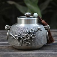 Urn Ashes Human Urns For Ashes Funeral Cremation Hand Carved Beautiful Embossed Pure Tin 97% Lead Free Pewter Handmade In China