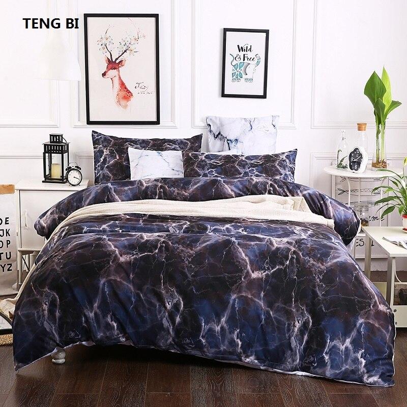 Новый стиль европейской и американской моды простой и прохладный ветер и 3 шт. постельного белья простыней покрывало пододеяльник/ наволочк...