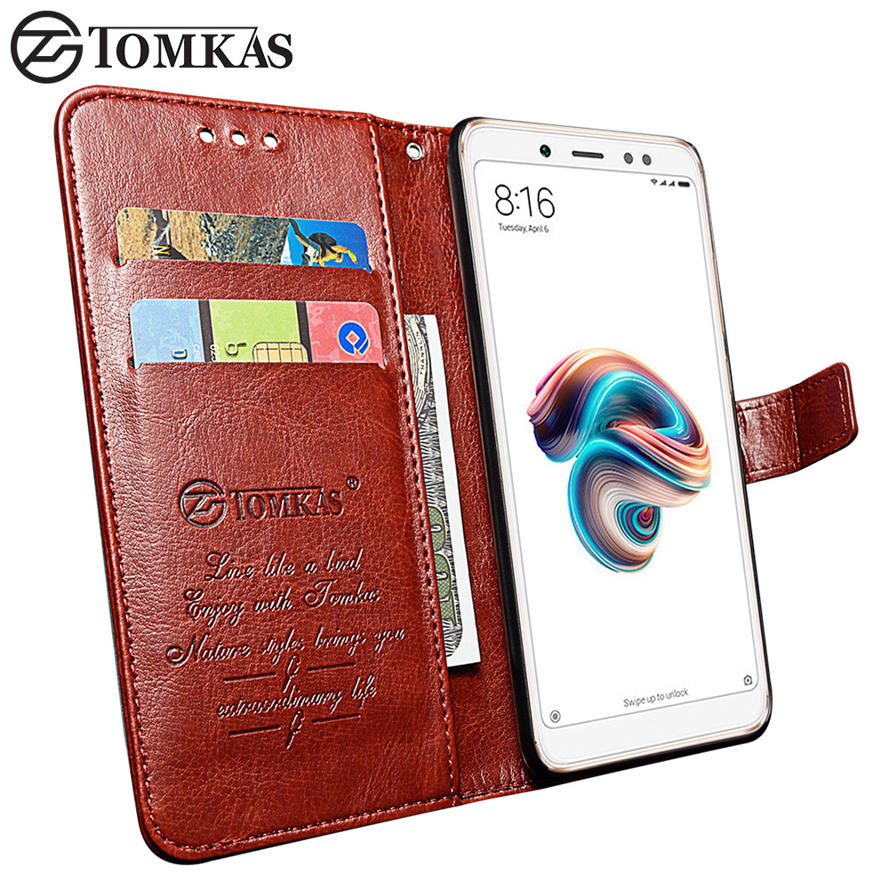 TOMKAS Case For Xiaomi Redmi Note 5 Case Cover Leather Wallet Coque Cases For Xiaomi Xiomi Xaomi Redmi Note 5 Pro Global Version