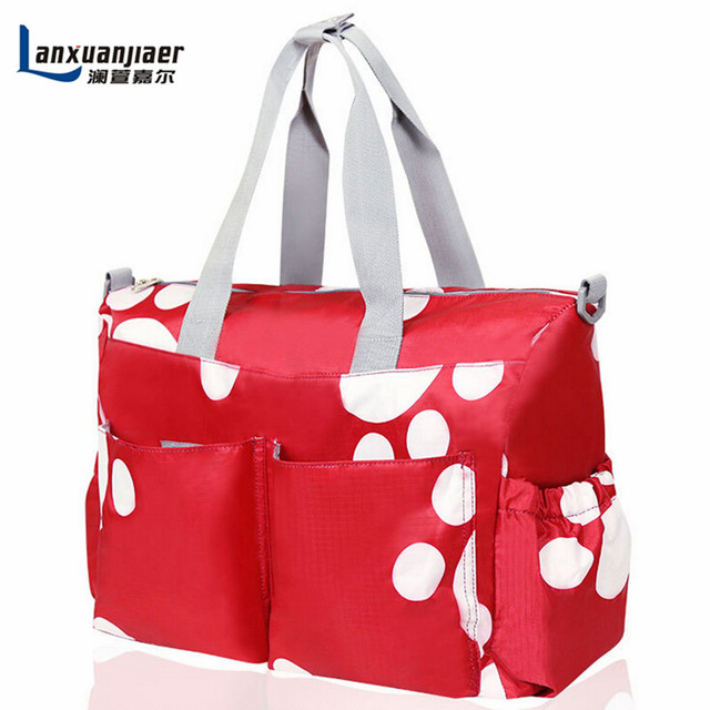Free shipping Fashion 6PCS/Set large capacity multifunction waterproofTote Baby Shoulder BagsDurable Nappy Mummy Mother baby bag