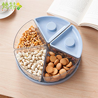 Five cases fruit snacks seal plate fashion plate 25.5*25.5*8.3cm free shipping