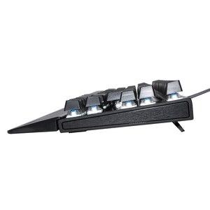 Image 5 - Deepfox Mechanical Gaming Keyboard 87 Keys Blue Switch Illuminate Backlight Backlit Anti ghosting LED Keyboard Wrist Pro Gamer