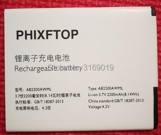PHIXFTOP d'origine AB2200AWML batterie Pour philips W3500 W3509 téléphone portable AB2200AWMC pour XENIUM CTW3500 smart Mobile 2200 mAh