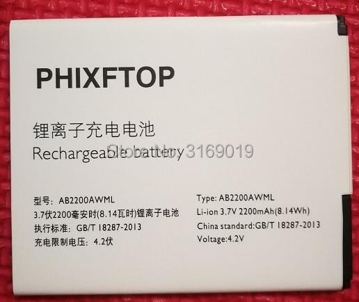 PHIXFTOP original AB2200AWML battery For philips W3500 W3509 cellphone AB2200AWMC for XENIUM CTW3500 smart Mobile 2200mAh