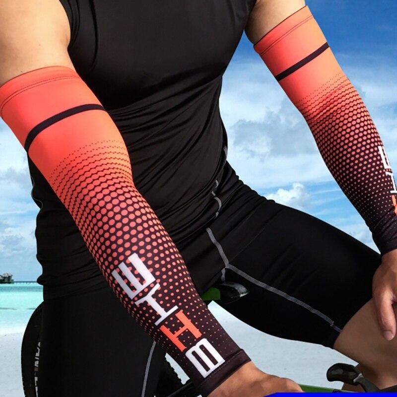 1 Paar Radfahren Arm Sleeve Für Basketball Laufen Fahrrad Arm Wärmer Camping Sport Sonnenschutz Uv Fingerlose Cove