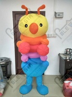 Rainbow bugs mascot costume hot sale color worm costumes