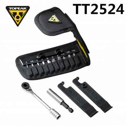 Topeak TT2524 Ratchet Rocket Lite function Tools Mountain bike T10/T25 Torx chain pin breaker Hex Wrench Allen Key Socket set
