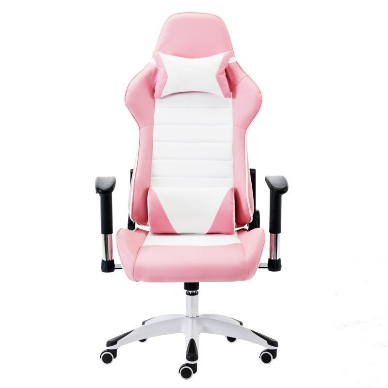 Free Eu Shipping 8008 Pink Poltrona Gaming Esports Boss Silla Gamer Office Chair Massage With Wheel With Footrest Can Lie