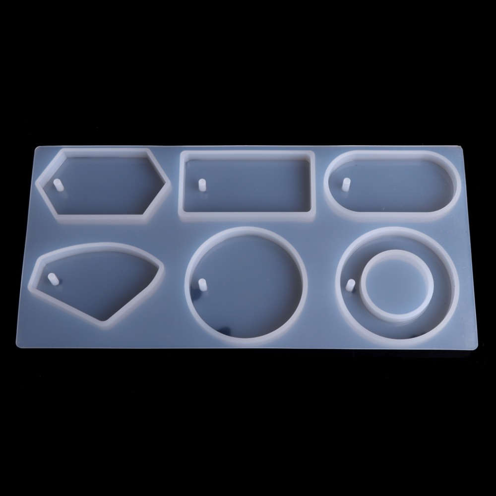 Clear Silicone Mold Mould Epoxy Resin Jewelry Making Tool Hole For Sweater Chain Pendant Necklace