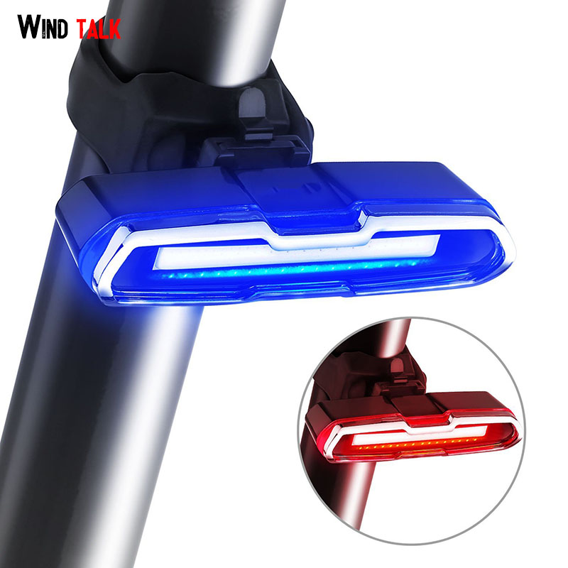 Wind Sprechen Einstellbare 180-Grad Mtb Led Fahrrad Rücklicht Usb Aufladbare Taschenlampe Für Fahrrad Fahrrad Zurück Hinten Licht radfahren