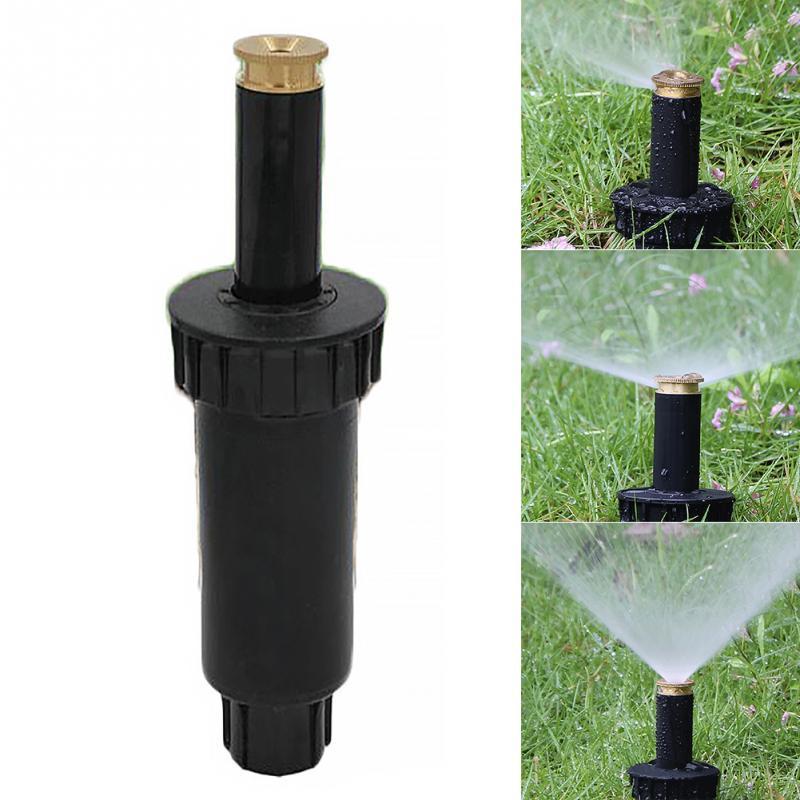 90/180/360 Degree Pop Up Sprinklers Plastic Lawn Watering Sprinkler Head Adjustable Garden Spray Nozzle 1/2