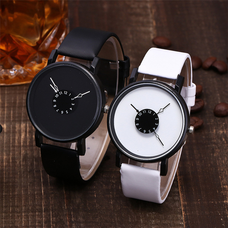 Fashionable Women's Casual Quartz Leather Band New Strap Watch Analog Wrist Watch Hot Sale Simple Black White Watches For Female