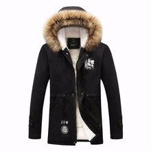 HCXY 2017 Hot Selling Fashion Casual winter jacket men Coat Comfortable&High Quality  Hooded men Jacket Plus Size 5XL Wholesale