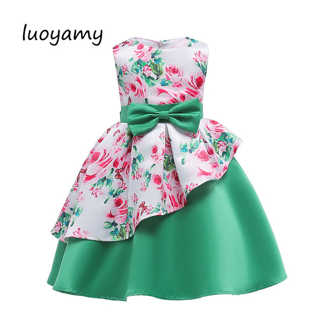 26eb10cc8e6d1 US $25.31 |luoyamy Infant Girls Party Dresses Kids Elegant Formal Pageant  Dress For Girls Princess Dress 2018 Summer Children Clothing-in Dresses  from ...